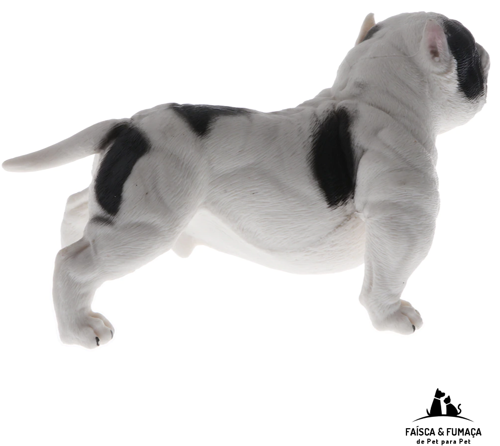 Simulation American Bully Pitbull Dog Animal Action Figure Model Kids Educational Learning Nature Toys White