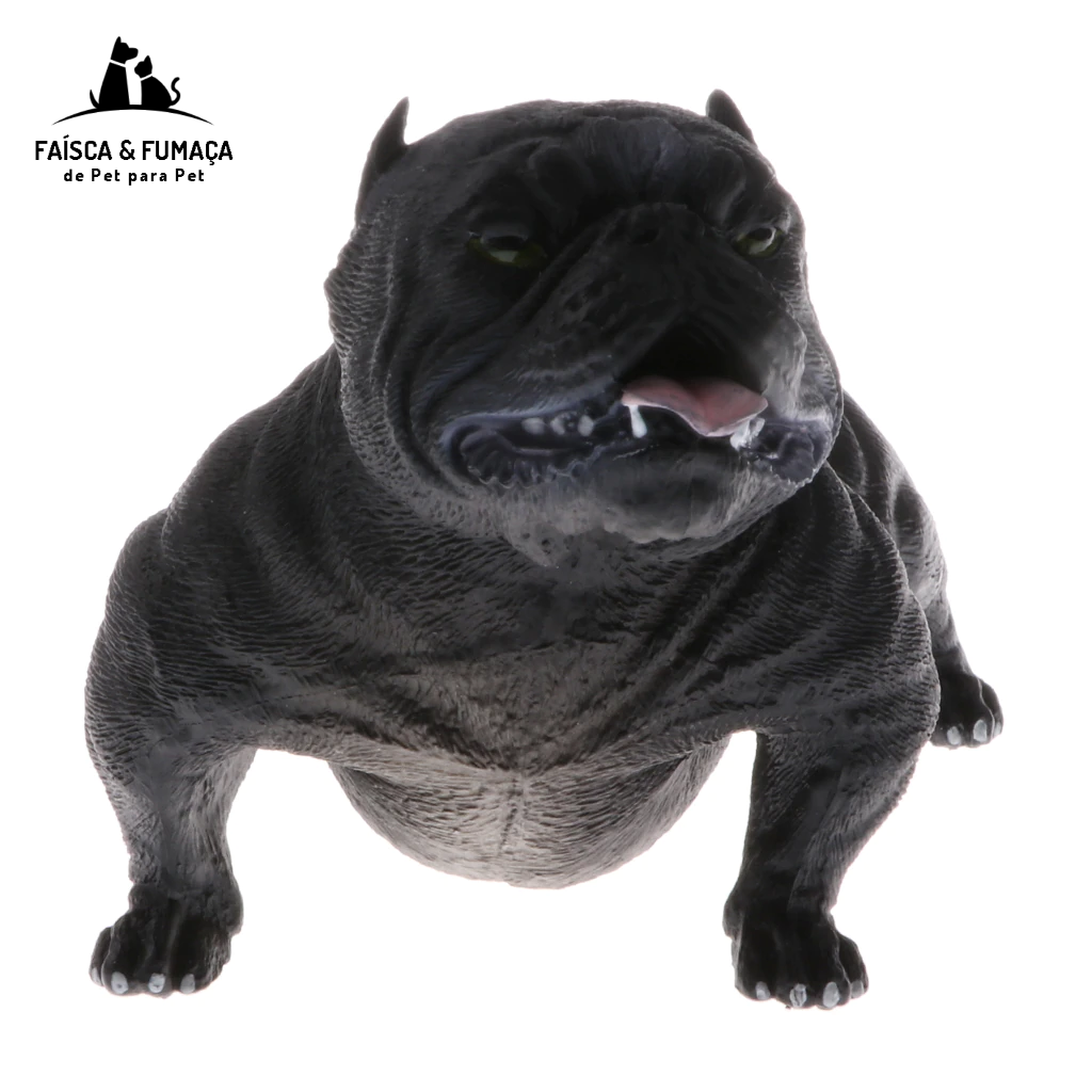 Animal Models Toy Simulation American Bully Pitbull Dog Action Figure Model Kids Educational Nature Toys Home Decor Collectibles
